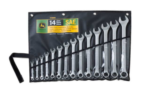 John Deere | Combination Wrench Sets | Model TY19918 - SAE combination wrench set with rack, 14-pc