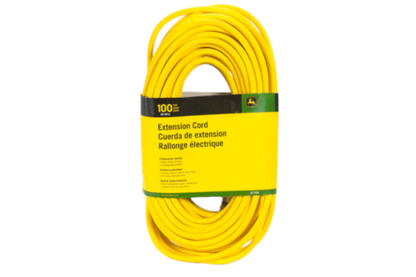 John Deere | Extension Cords | Model ET-1108-J Extension Cord, 100 ft. 12/3 SJEOOW