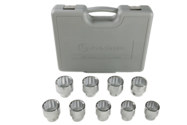 John Deere | Socket Sets | Model TY19985 - 3/4-in. Drive 9-piece Socket Set (SAE)