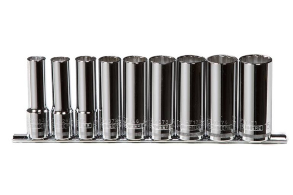 John Deere | Socket Sets | Model TY24209 -  9-piece 1/2-in. Drive Deep Socket Set (SAE)