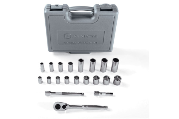 John Deere | Socket Sets | Model TY25837 -  20-piece 3/8-in. Socket Set (SAE)