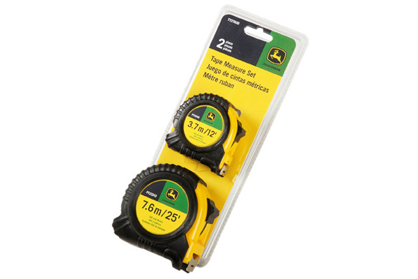 John Deere | Tape Measures | Model TY27000 -  2-Piece Tape Measure Set