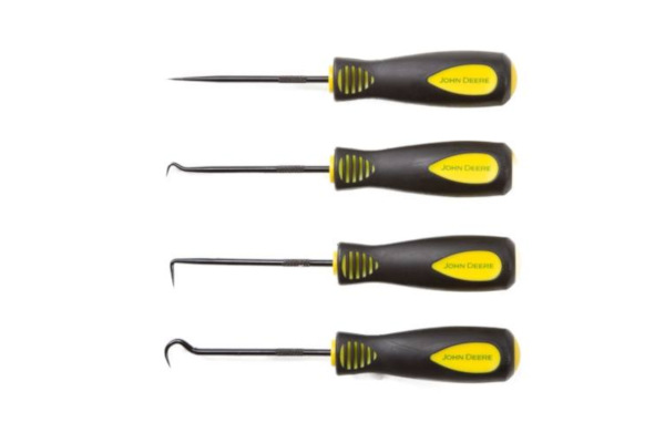 John Deere | Workshop Accessories | Model TY26997 - 4-piece Precision Pick & Hook Set